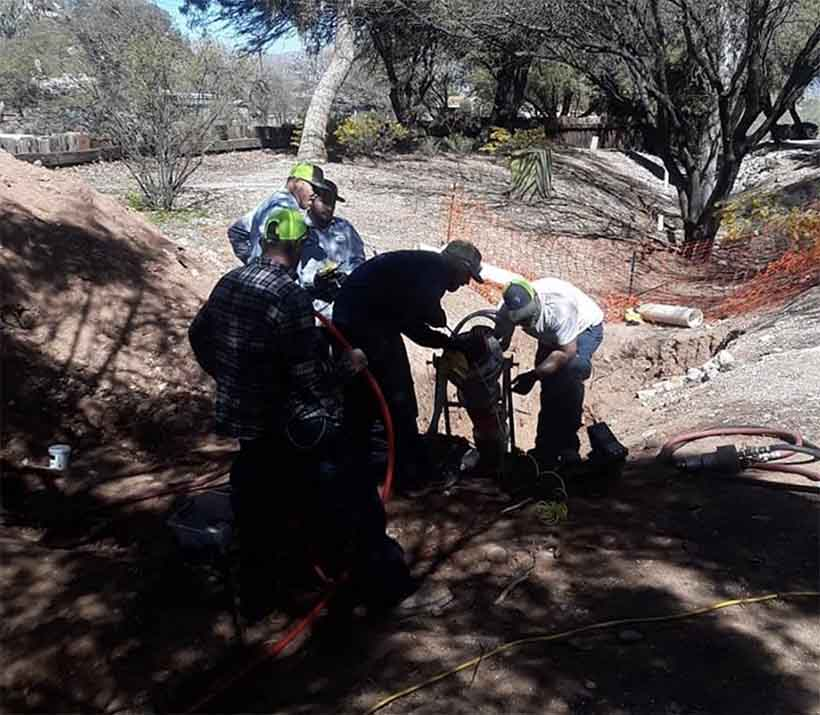 trenchless sewer repair in Tortolita, AZ.